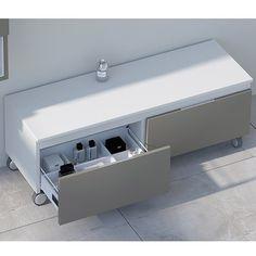 Mueble auxiliar de baño Carcasa blanca frentes Taupé
