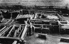 Остатки построек древней Ладоги