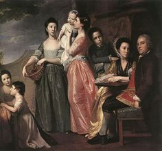 1768 George Romney - A large family piece (Portrait of the Leigh family) (National Gallery of Victoria, Melbourne) Royal Academy Of Arts, Oil Painting Reproductions, European Fashion, European Style, Portrait Art, Portrait Paintings, Family Portraits, 18th Century, Victoria