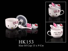 mug tutup Hello Kitty Kitchen, Sweet Home Design, Hello Kitty Accessories, Madness, House Design, Mugs, Tableware, Decor, Products
