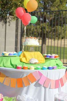 Rainbow party cupcake sleeves