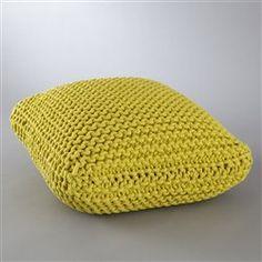 Pouf tricot carré Asper