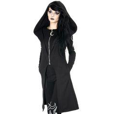 Gothic mantel mit kapuze damen