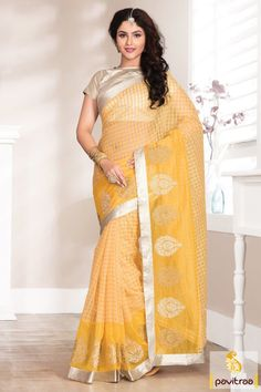 Be bright and voguish with yellow net party saree with festival discount. Shop it online and get best festival special offer benefits. It is fine with chex.  #saree, #sarees, #partywearsaree, #designersaree, #onlinesaree, #partysaree, #festivalsaree, #occasionsaree, #womenfashionsaree, #embroiderysaree, #pavitraa, #pavitraafashion http://www.pavitraa.in/store/party-wear-saree/ Call Us : 917698234040