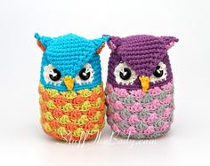Meet the cutest amigurumi owls ever! They are colorful, sweet and fun to make! Be careful - making them is really addictive. This crochet pattern is