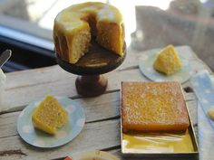 Lemon cake and bars 1:12 scale | by It's a miniature life...is playing with clay