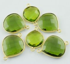 Finest Quality 2 Pieces Lot Peridot Faceted by LeejewelCreations