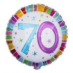 Balloon Number 70th Birthday