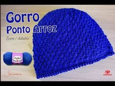 Gorro de Crochê Ponto Arroz | Tam teen e Adulto | Professora Simone - YouTube Crochet Baby, Knit Crochet, Charity, Knitted Hats, Diy And Crafts, Crochet Patterns, Beanie, Embroidery, Stitch