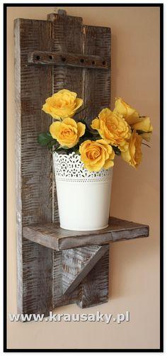 Kwietnik - Półka dekoracyjna Kwietnik - Półka dekoracyjna to produkt dla ludzi, którzy znudzili się Chińską jakością i wszechobecną obecnością papieru i tw , meble i dekoracje z drewna, z desek, shabby, vintage, rustykalne, loft, industrial, rustic