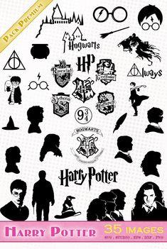 Harry Potter SVG, Harry Potter dxf, harry potter clipart ...