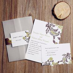 Rutic Pocket Wedding Invitations Cheap by ElegantWeddingInvite, $2.50