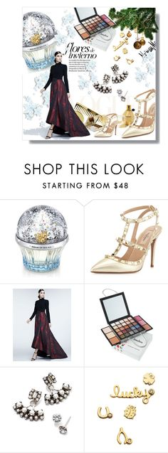 """The Holiday Wish List With Neiman Marcus: Contest Entry"" by theitalianglam ❤ liked on Polyvore featuring Neiman Marcus, House of Sillage, Valentino, Theia, DANNIJO and Sydney Evan"