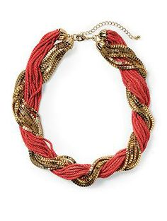 Tinley Road Red Twisted Chain Necklace | Piperlime