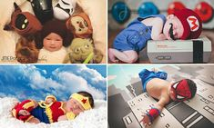 Dressed as characters ranging across fantasy and sci-fi movies, books, TV shows and comics, the babies are carefully placed in different scenarios and positions by their parents.