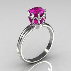 Classic 10K White Gold Marquise and Round Pink by artmasters, $949.00