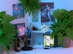 Discovered by MYSTIC BRAT. Find images and videos about grunge, room and plants on We Heart It - the app to get lost in what you love. Vaporwave, Neon Room, Pink Room, Space Grunge, Interior And Exterior, Interior Design, Aesthetic Bedroom, Retro Aesthetic, Retro Futurism