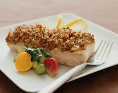 Baked Tilapia with Crumb Crust. Tilapia, cottage cheese, parsley, oregano, pepper and italian breadcrumbs Salmon Recipes, Fish Recipes, Seafood Recipes, Dinner Recipes, Top Recipes, Dinner Ideas, Crumb Crust Recipe, Baked Haddock, Baked Tilapia