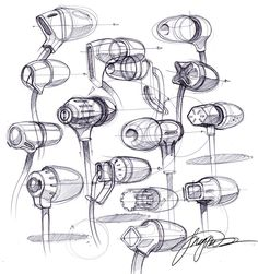 sketch a day 123 ear buds