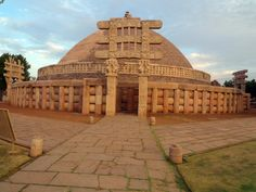 """Sanchi known for its """"Stupas"""" is a small village in Raisen District of the state of Madhya Pradesh, India, it is located 46 km north east of Bhopal, and 10 km from Besnagar and Vidisha in the central part of the state of Madhya Pradesh. It is the location of several Buddhist monuments dating from the 3rd century BCE to the 12th CE and is one of the important places of Buddhist pilgrimage. Indian state of Madhya Pradesh, India  by: http://en.wikipedia.org/wiki/Sanchi"""