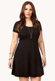 No-Fuss A-Line Dress   FOREVER21 PLUS - 2041500428