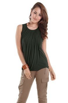 81b86c23045dc Athena Drape Sleeveless Nursing Top in Myrtle Green. Please use coupon code  NewProducts to receive