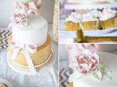 De verjaardagstaart en cupcakes voor Lianne mogen maken, Party Sparkle Pastel, super leuk!