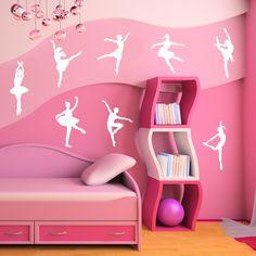 Ballet Dancers Wall Sticker Set