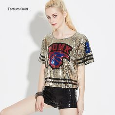 Find More T-Shirts Information about Women Creative Burning Fire Ball Hip Hop Glitter T shirt Silver/Gold/Red/Blue Sequined Tops Cmiseta Feminina Plus Size Tee Shirt,High Quality glitter t-shirt,China tee shirt Suppliers, Cheap plus size tee shirts from Tertium Quid Store Store on Aliexpress.com