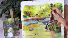 In this http://ArtistsNetwork.tv video you can follow along with Julie Gilbert Pollard as she paints a woodland creek in acrylic from start to finish, explor...