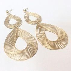 Aros en plata dorada satinada #milhilos