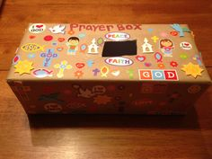 Prayer box.....awwww, almost just like mine! So many memories of Bible School