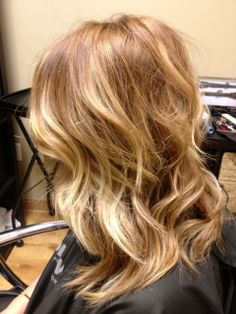 Golden, honey blonde ...if I had the confidence to do it!!