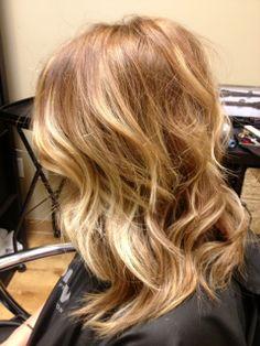 Golden, honey blonde