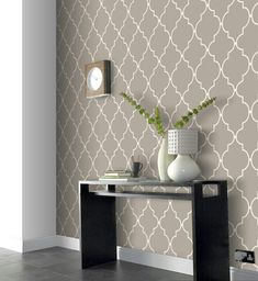 Living Room Wallpaper Accent Wall Patterns 42 New Ideas Tile Wallpaper, Textured Wallpaper, Wallpaper Ideas, Accent Wallpaper, Easy Wallpaper, Kitchen Wallpaper, Trendy Wallpaper, Moroccan Wallpaper, Peelable Wallpaper