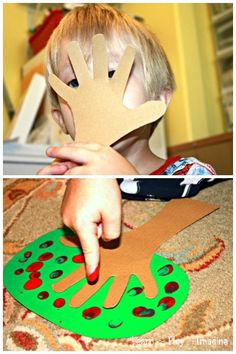 Simple hand and finger print apple tree craft, perfect for fall. Good for little guys