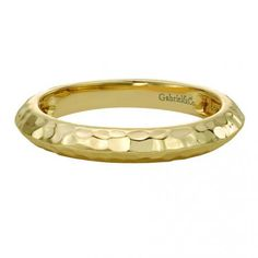 A 14k yellow gold stackable ladies ring by Gabriel & Co.! This simple but cute piece would be perfect to pair along with a few other Gabriel & Co. ring stackables. Find your local Gabriel retailer at our website www.gabrielny.com