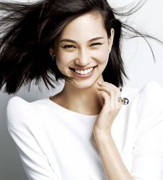 Kiko Mizuhara, Japanese model, for Shiseido