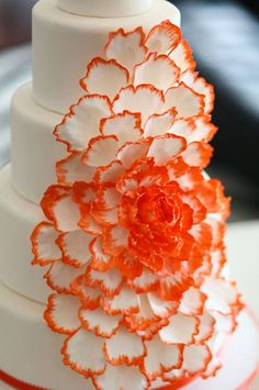 Cascading Orange Peony Cake and more Beautiful Orange Cakes to view.