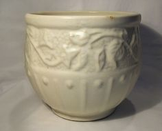 1930's McCoy Pottery Morning Glory Jardiniere