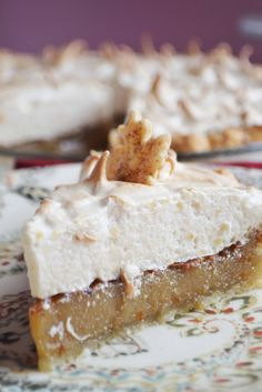 maple brown sugar cream pie w/ brown sugar meringue