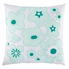 Go Lightly Throw Pillow (Mint) | The Land of Nod