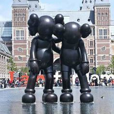 KAWS unveils new Companion sculptures at Amsterdam's ARTZUID