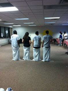 What if we had a Potato sack race through a public place! That'd be too funny