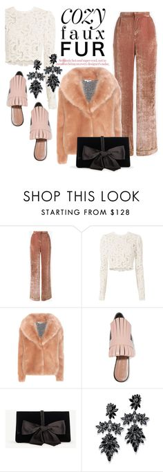 """""""cozy coats"""" by dotty-28 ❤ liked on Polyvore featuring Alberta Ferretti, A.L.C., Opening Ceremony, Marni, Ann Taylor, Fallon and fauxfur"""