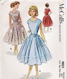 Vintage McCalls Teen Age Date Dress by AnnesVintagePatterns, $19.00