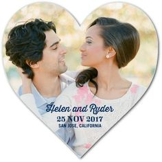 Shimmering Hearts - Heart Shaped Save The Dates - Stacey Day - Baltic - Blue : Front
