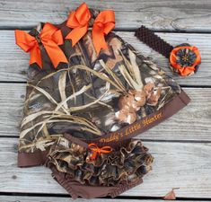 Camo Dress and Bloomer Set with Headband on Etsy, $57.00