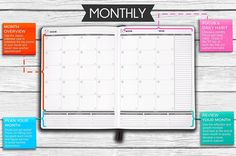 "Amazon.com : Panda Planner Weekly - Weekly Planner for Productivity & Happiness- 1 Year Planner - 8.5 x 11"" - Softcover - Weekly Layout, Calendar, Journal, Daily Gratitude, Personal Organizer: All-In-1! Guaranteed : Office Products"