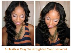How to Blend Natural Hair and Straight Extensions without Heat  Read the article here - http://www.blackhairinformation.com/general-articles/hairstyles-general-articles/blend-natural-hair-straight-extensions-without-heat/